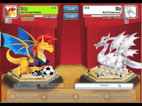 dragon city batalla contra 1 puro y 1 legendario