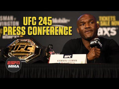 Kamaru Usman, Colby Covington trade verbal jabs at UFC 245 press conference | ESPN MMA