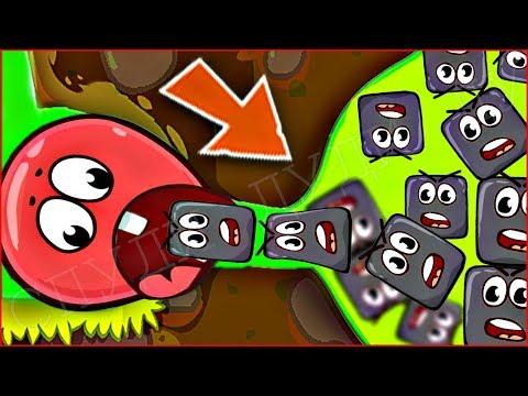 ОГО КАКИЕ БОЛЬШИЕ МОНСТРЫ !!! КРАСНЫЙ ШАРИК 4  ПОДЗЕМНЫЕ ХОДЫ мультик игра для детей шар RED BALL 4 (видео)
