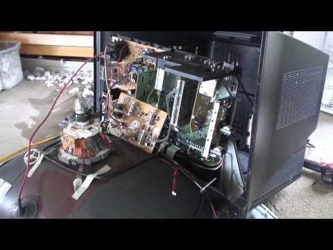 Salvaging electronics from a broken TV