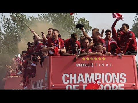 LIVERPOOL TROPHY PARADE! | CHAMPIONS LEAGUE 2019