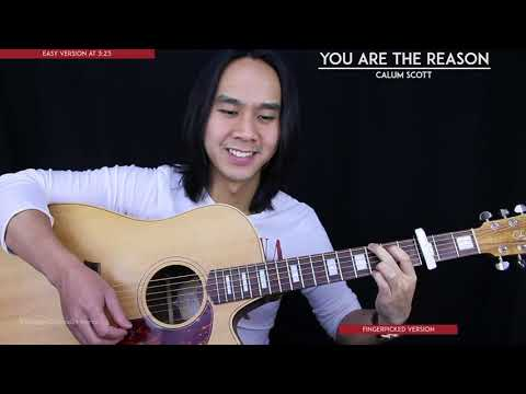 You Are The Reason Guitar Cover Acoustic - Calum Scott 🎸 |Tabs + Chords|