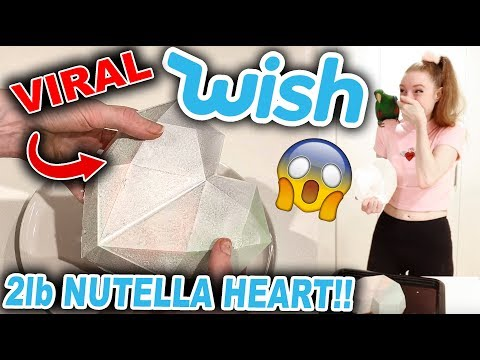 TESTING PRODUCTS FROM WISH!!! MAKING A DIY 2LB NUTELLA HEART