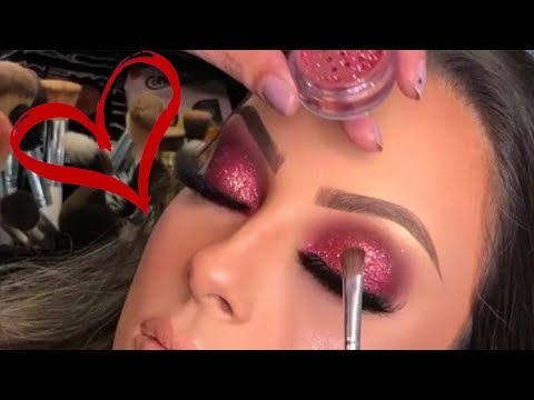 Glam Eye Makeup Compilation ❤️❤️❤️ Valentine's Day Makeup Tutorial 2018