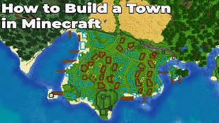 How to build an Awesome Town in Minecraft 1.15 Vanilla