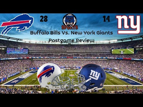 Buffalo Bills 28 New York Giants 14 Postgame Review| We Got Killed AGAIN! This Team is AWFUL!!