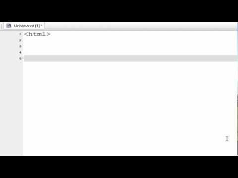 Eigene Webseite erstellen #01 – Html Text, Links, Bilder