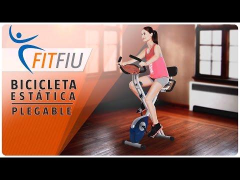 Bicicleta estática Fitness Bici Plegable cardio respaldo