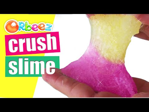 How To Make Slime With Crushed Orbeez Balls Jelly DIY Slime Without Borax By Bum Bum Surprise Toys