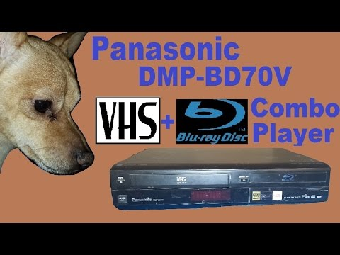 Panasonic DMP-BD70V VHS/Bluray combo player