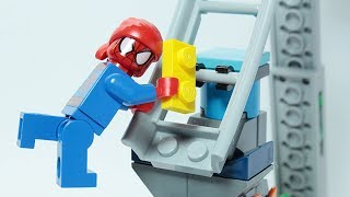 Video Lego Spider Man Brick Building Pirate Ship Attraction Roller coaster Animation for Kids MP3, 3GP, MP4, WEBM, AVI, FLV Agustus 2018