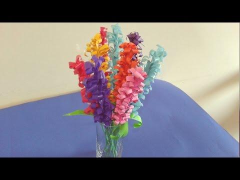 كيف تصنع وردة من اكياس البلاستيك او الورق (زنبق بري)