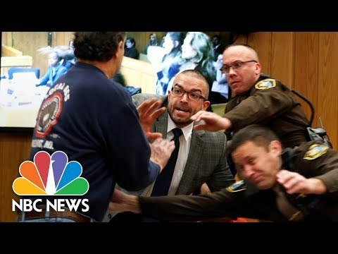 Larry Nassar Victims' Father Tries To Attack Former Doctor In Court | NBC News