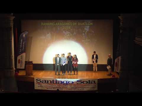 Gala del Triatlón de Aragón 2018. Tarazona, 19-01-19.