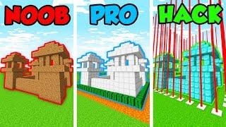 Minecraft NOOB vs. PRO vs. HACKER: PRISON BASE DEFENSE in Minecraft! (Animation)