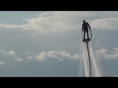 water jetpack - Unexpected show put on by a guy flying on jets of water from a Personal Water Craft- he was very good and entertained the crowd at The Pier on Lake Okoboji.