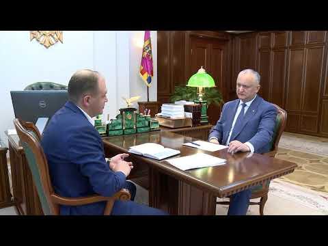 Igor Dodon a avut o întrevedere de lucru cu Ion Ceban
