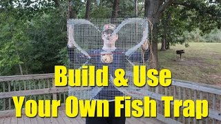 How to build a fish trap - four leaf clover trap for blue gill and bream
