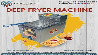 Electric-Gas Deep Fryer || French Fry Machine (EDF05) (+91-97245 55800)