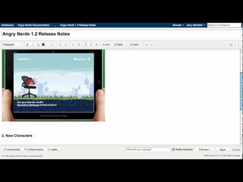 Software for Technical Documentation Demo Video — Atlassian Confluence
