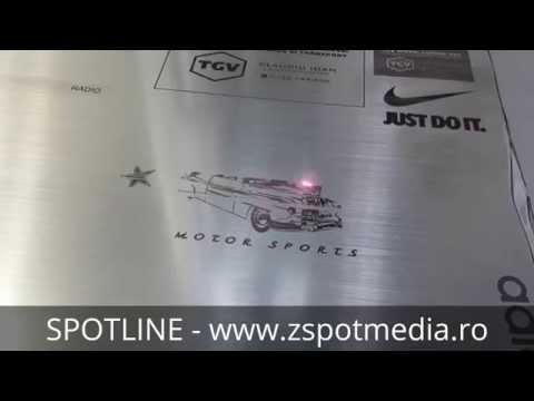 Prezentare video Gravator YAG signalistica pentru piata de automotive, publicitate, design