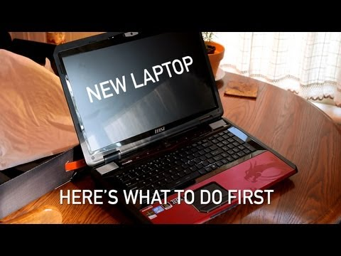 , title : 'New Laptop: What to Do When You Get a New Notebook/Laptop/PC'