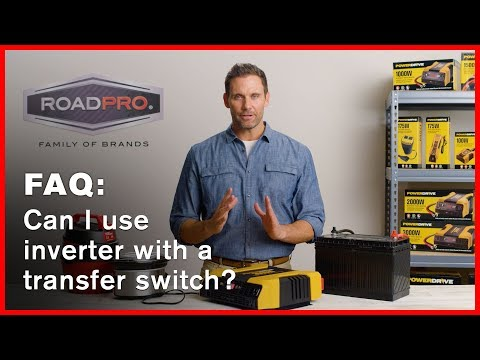 Power Inverter FAQ #4 - Can an inverter be wired into a transfer switch for house or RV use?