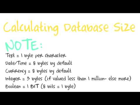 Calculating DB size