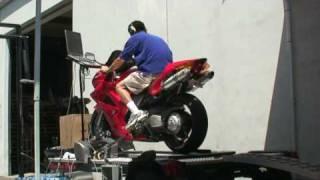 7. 2002 Honda VFR800 Interceptor K&N drop in and Leo Vince Slip-on Dyno