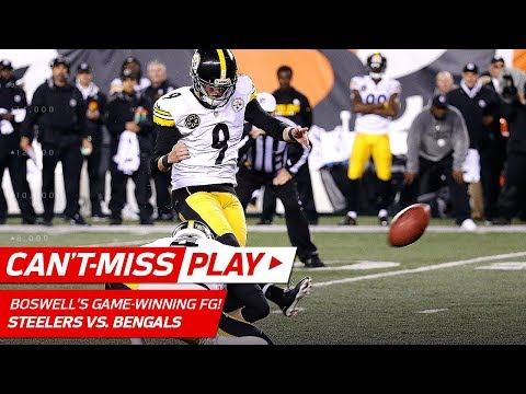 Video: Big Ben Leads Game-Winning Drive Capped Off by Boswell's Clutch FG!   Can't-Miss Play   NFL Wk 13