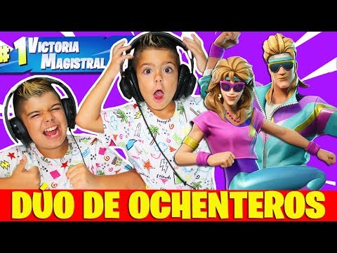 Videos de uñas - DÚO DE *OCHENTEROS* EN FORTNITE!!! 50 vs 50 en PS4
