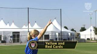 US Soccer-produced video on referee signal technique.
