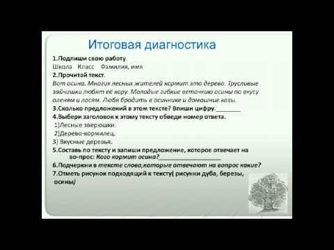 Диагностика результатов образования по русскому языку в1 классе начальной школы (на примерелинии УМК Т. Г. Рамзаевой)