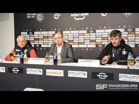 Video: Pressekonferenz - VfR Aalen gegen 1. FC Magdeburg 0:0 (0:0)