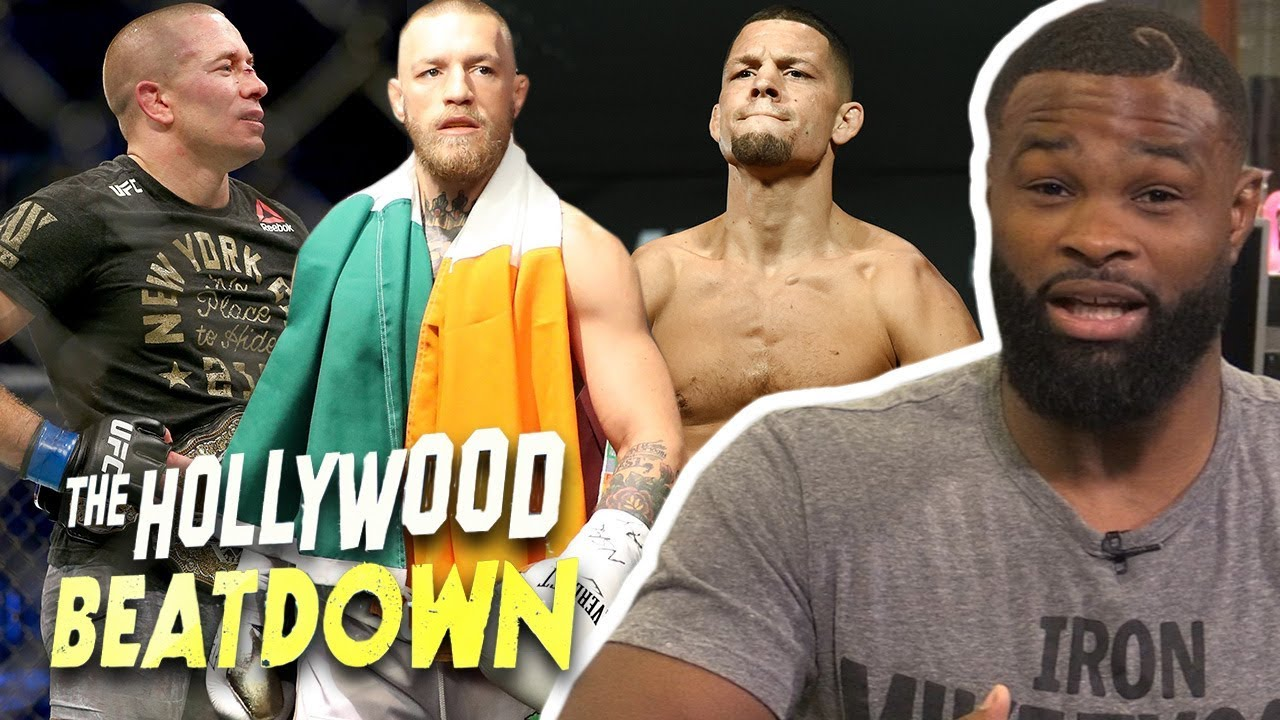 Tyron Woodley Says Nate Diaz and GSP Are Bitches | The Hollywood Beatdown