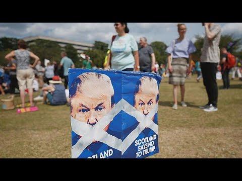 Trump in Schottland: Proteste auf Schritt und Tritt