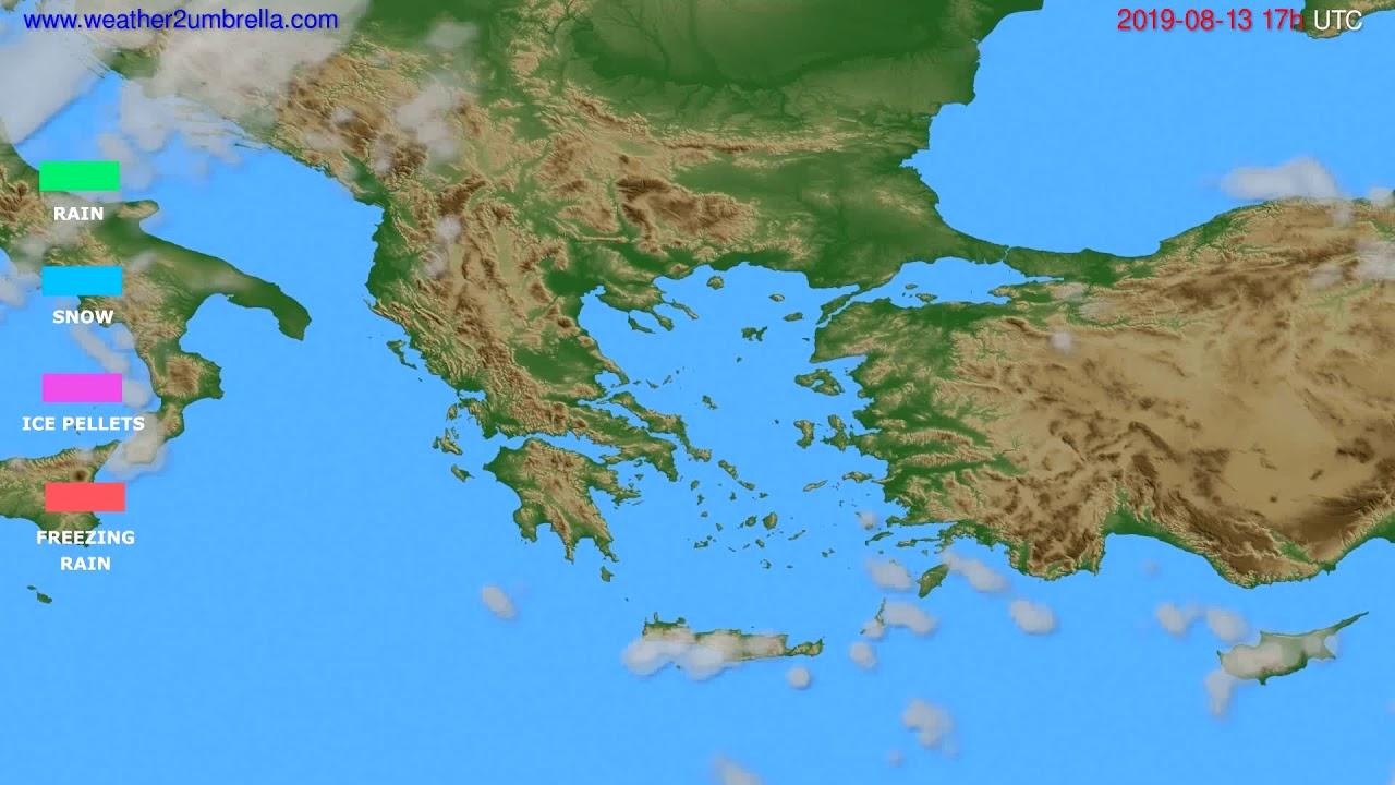 Precipitation forecast Greece // modelrun: 00h UTC 2019-08-12