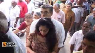 Ajith and Shalini Casted their Votes