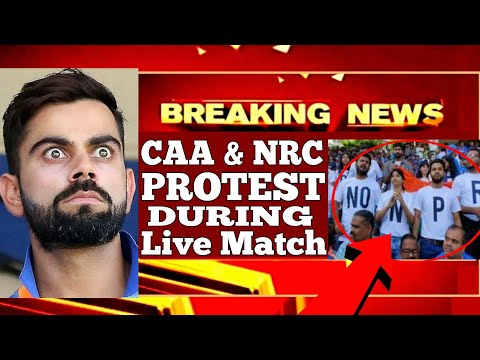 India vs Aus, Protest against CAA&NRC | Wankhede Stadium