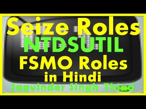 how to repair fsmo roles
