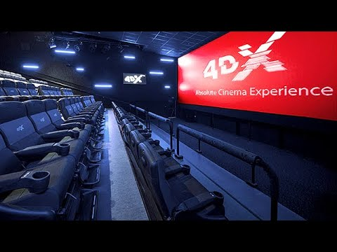 4DX Cinemas Next Generation - Motion Seats, Wind, Fog, Lighting, Bubbles, Water & Scents