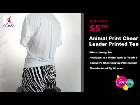 campusteamwearvideos - Printed tees work great as practice wear tops and let you show off your love for cheerleading all season long! The animal print cheerleader tee is a high-qua...