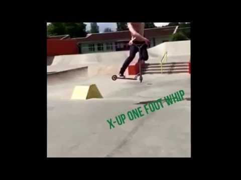 New trick X-up inte foot whip (видео)