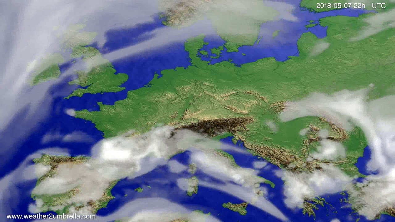 Cloud forecast Europe 2018-05-05