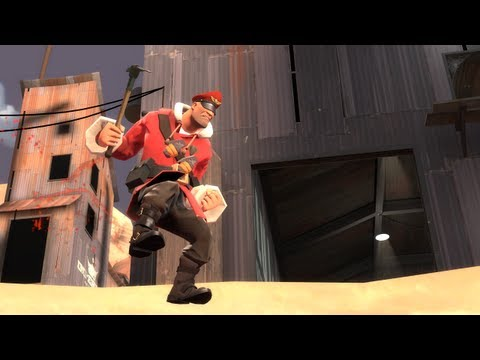 tf2 - Highlights from using Rocket Jumper / Mantreads / Equalizer on tdm_hightower. The rocket jumper prevents death from the equalizer taunt. This video was befor...