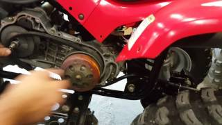 2. Speed collar removal for Arctic Cat DVX 90 - FASTER!