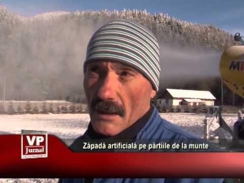 Zăpadă artificială pe pârtiile de la munte