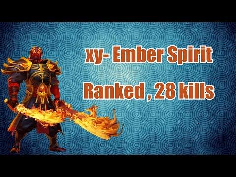 xy- Ember Spirit - 28 kills | Dota 2 Ranked Matchmaking