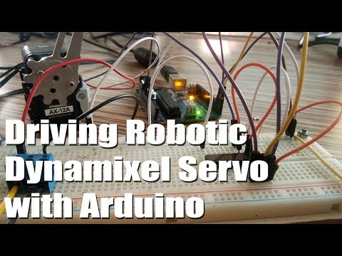 Driving Robotic Dynamixel Servos ( Sending And Receiving Data )  With Arduino