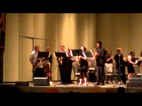 Paul Blazer saxophone Section - Intermission skit @ Spring Concert 2013